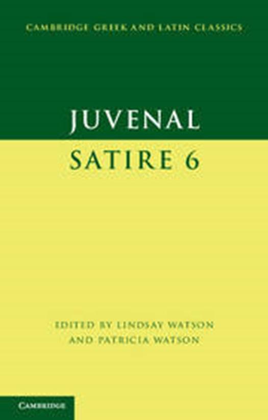 Juvenal Satire 6 Standaard Boekhandel