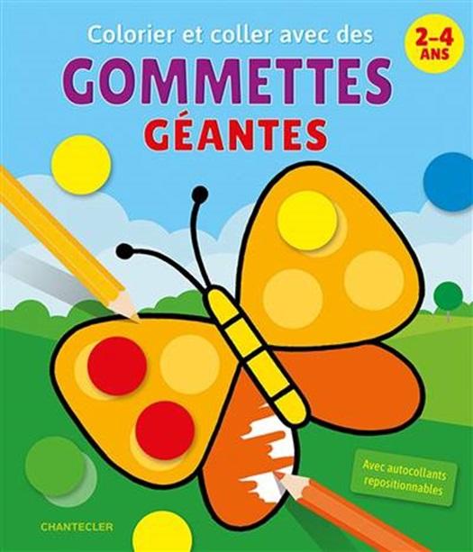 Colorier Et Coller Avec Des Gommettes Geantes 2 4 A Club