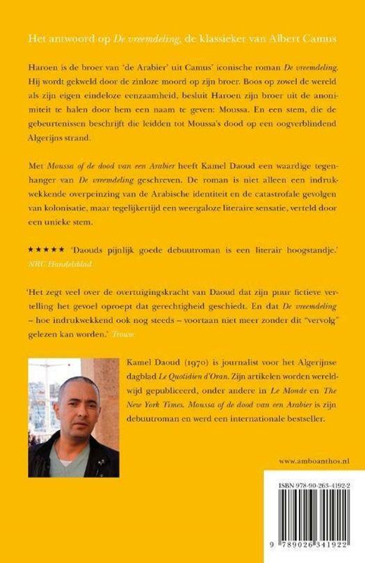 Moussa Of De Dood Van Een Arabier Standaard Boekhandel