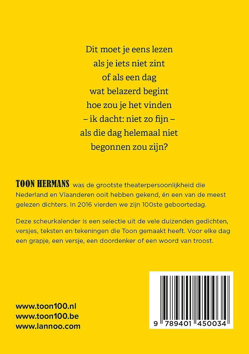 Voorkeur Een jaar met Toon 2019 | Standaard Boekhandel @AO28