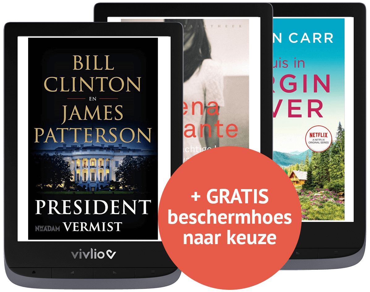 E-reader + gratis hoes + gratis ebooks