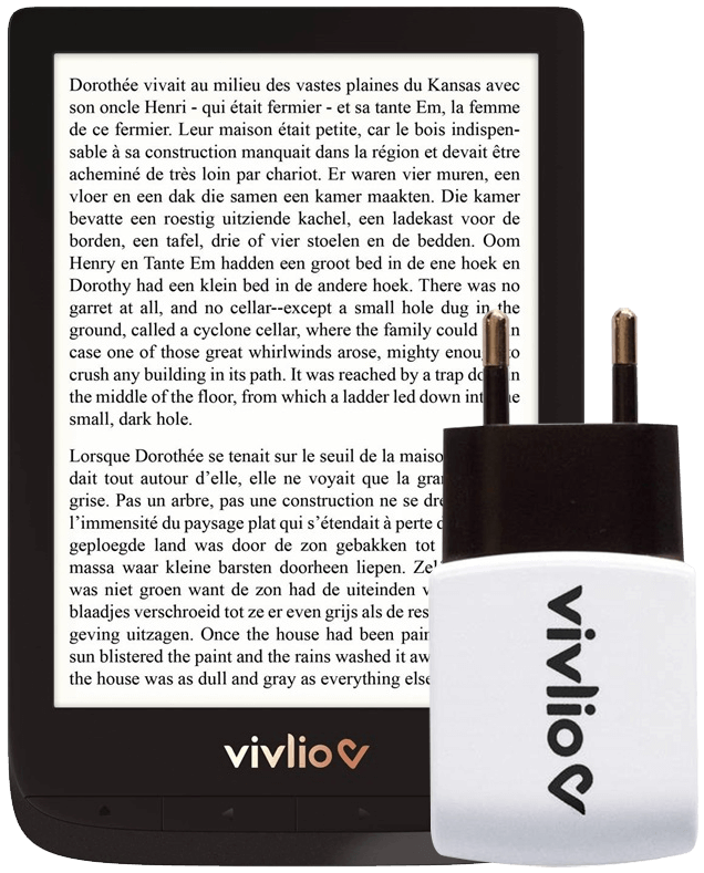 Vivlio e-reader Touch Lux 4: gratis lader